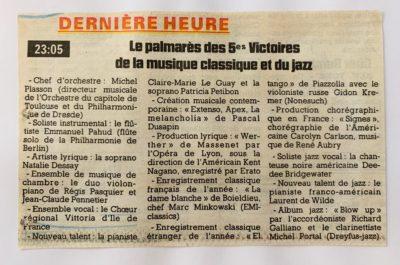 Victoires de la musique classique 1998 laureat