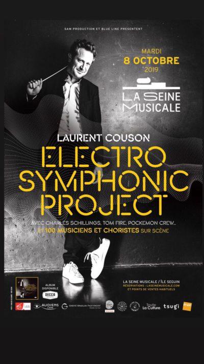 Affiche electro symphonic project paris